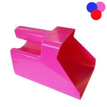 EQUESTRIAN FOOD SUPER SCOOP horse pet pony bird seed stable Blue - Red or Pink